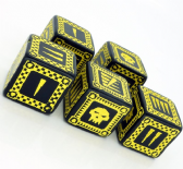 Black & Yellow D6 Ork Dice Set